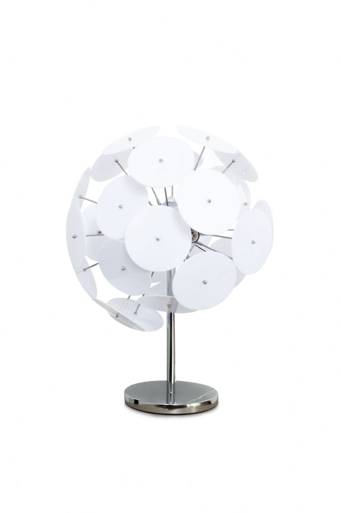 GA Swish Designer Contemporary White Table Lamp - Liquidation Stock RRP £185 !!